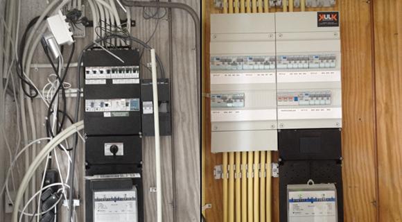 Meterkast voor en na